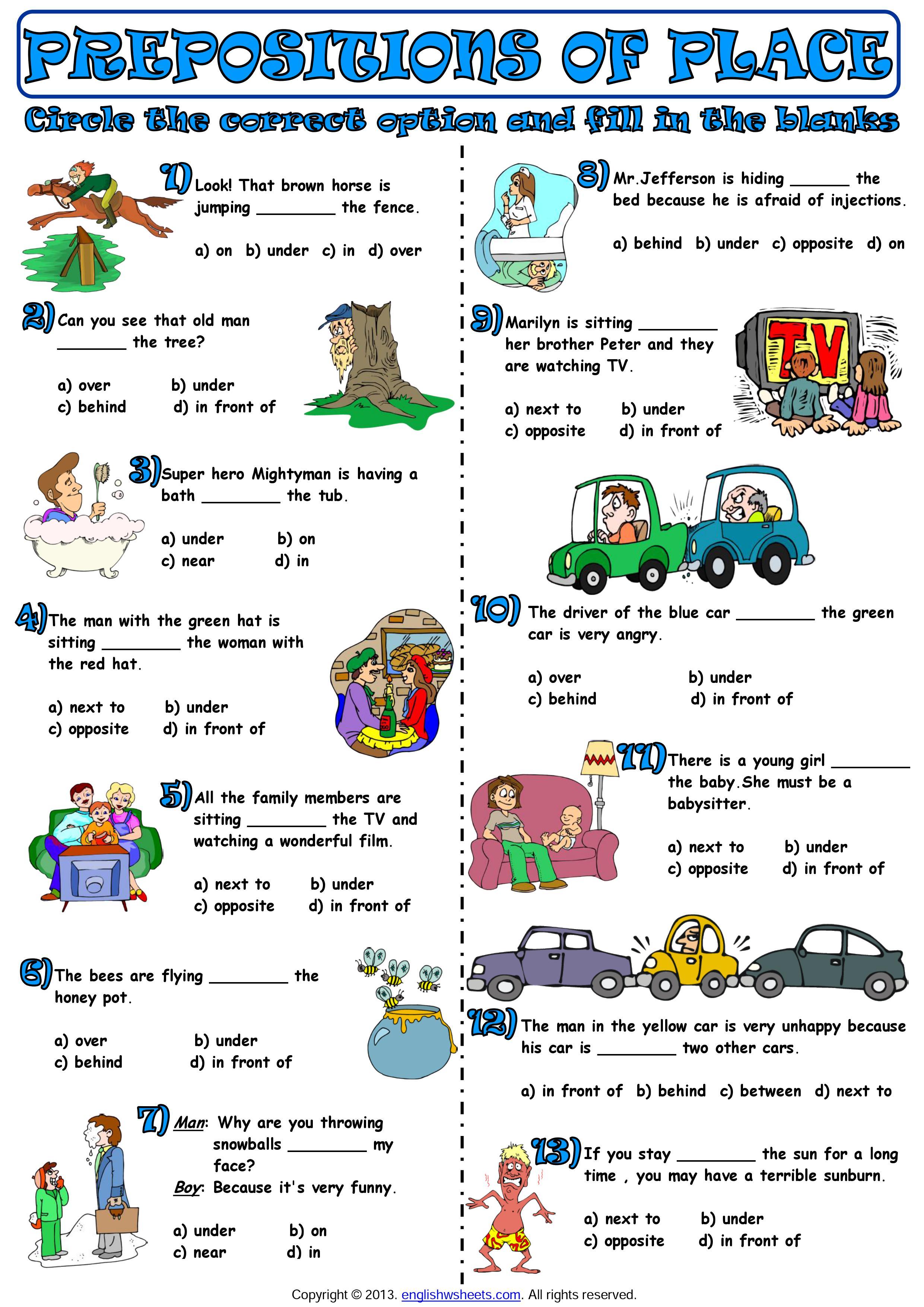 Prepositions Of Place Ingles San Juan Garcia