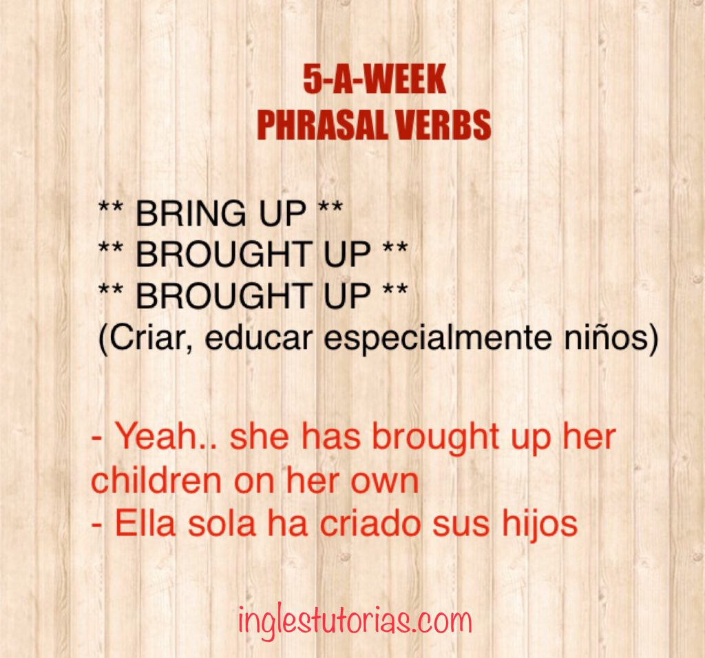 5 A Week Phrasal Verbs Ingles Tutorias