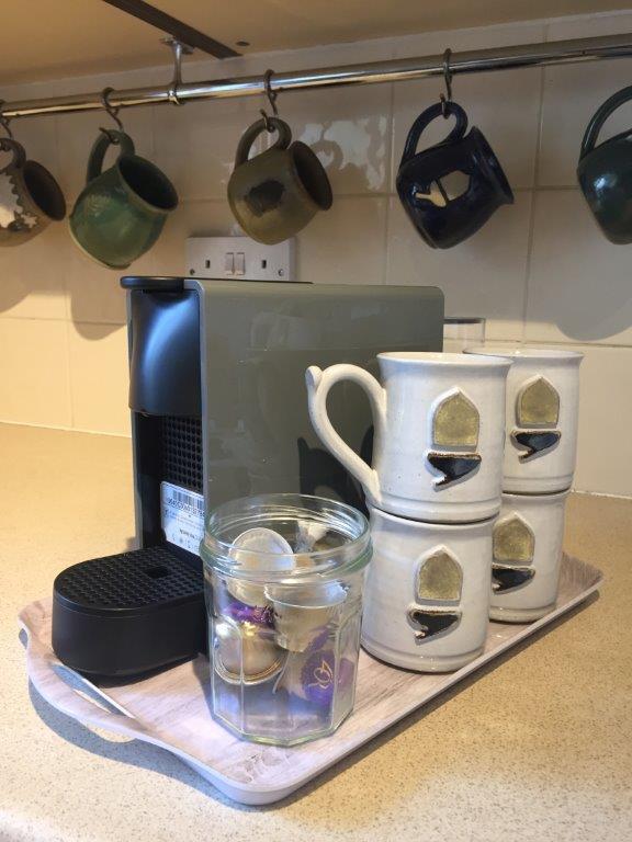 Nespresso coffee machine in place…