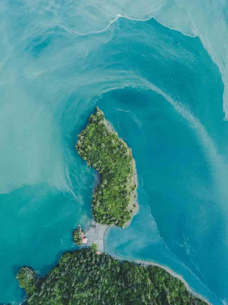 When glacier water meets the ocean.