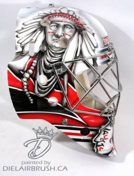Ray Emery Chicago Blackhawks mask