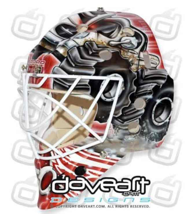 Monster Truck Goalie Mask Gustavsson Detroit left
