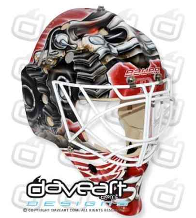 Monster Truck Goalie Mask Gustavsson Detroit right top
