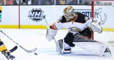 Many believe Frederik Andersen will be available in trade this summer. (Photo by Scott Slingsby/InGoal Magazine)