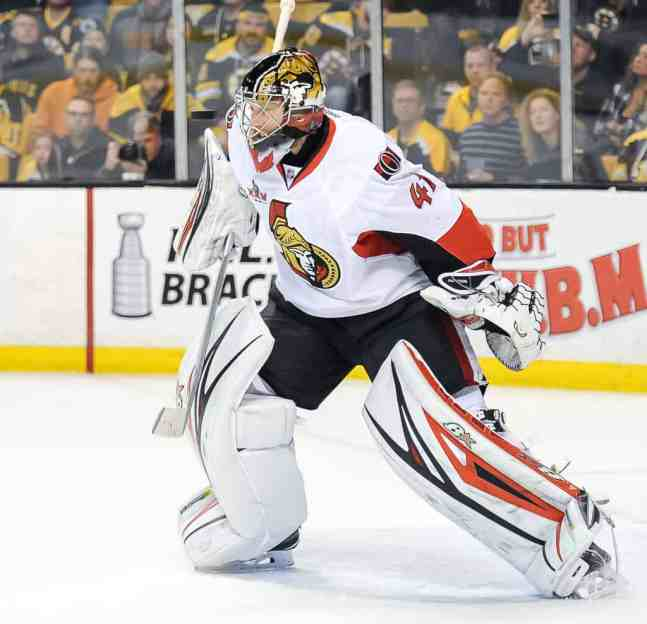 Craig Anderson was awarded the Masterton Trophy for 2017, given to the player who best demonstrates perseverance and dedication to hockey.