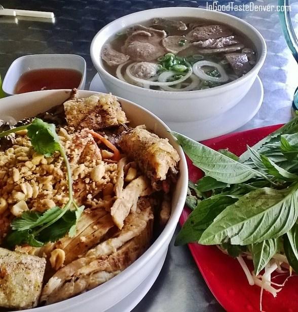 Pho Le noodle bowl and meatball pho