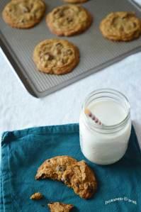 Dark Chocolate Chip Cookies 2   ingrained living.com