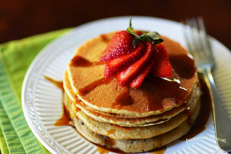 Fluffy Whole Grain Pancakes | Ingrained