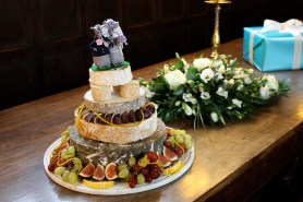 Cheese wedding cakes are popular with many couples