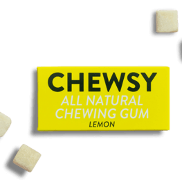 Lemon-Chewsy Natural Chewing Gum