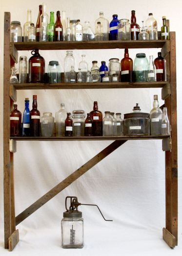 Pantry of Emotions, 2011, Wood and bottles