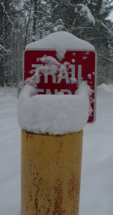 Trail End Sign
