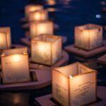 Inspirerend leven GELUK: een magische beleving, drijvende lichtjes op de rivieren