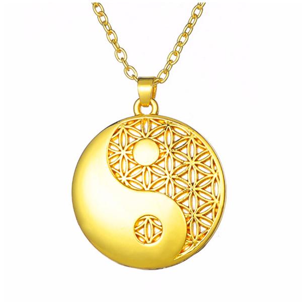 Yin Yang Mandala ketting voor Balans en Evenwicht - www.inspirerendwinkelen.nl