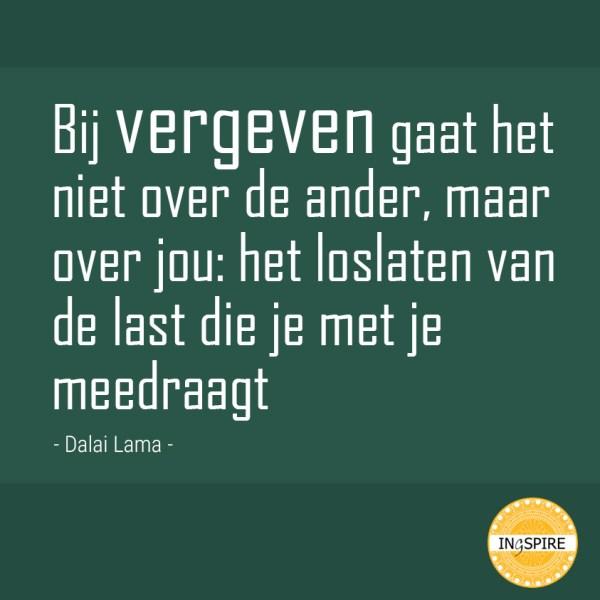 Citaat van Dalai Lama over vergeven op ingspire.nl