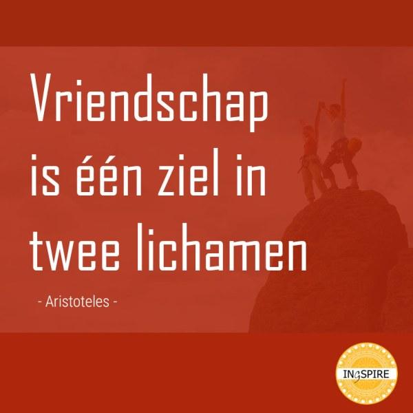 Aristoteles citaat over vriendschap: Vriendschap is 1 ziel in twee lichamen