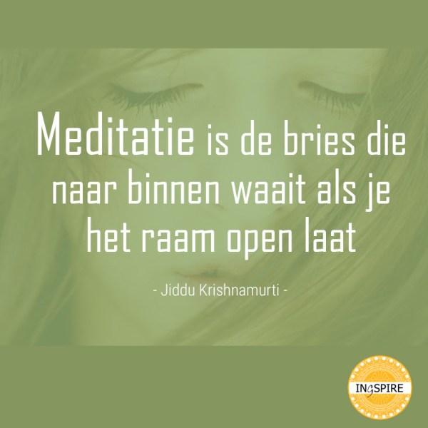 Jiddu Krishnamurti - meditatie quote