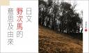 日文 野次馬 的中文意思及由來