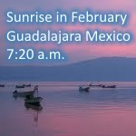 sunrise in February in Guadalajara Mexico