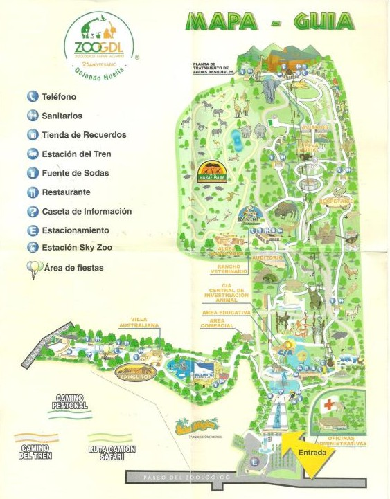 Guadalajara Zoo Map