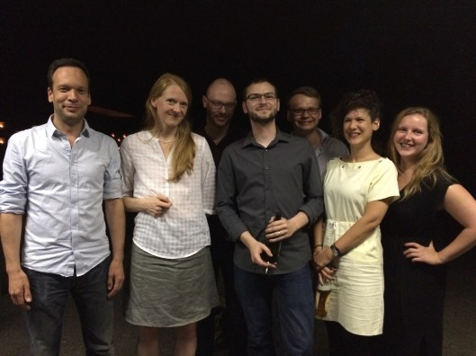 Autoren, Moderatoren & Organisatoren: Björn Kuhligk, Anja Kampmann, Christoph Wenzel, Mario Osterland, Peter Neumann, Kinga Tóth und Julia Hauck (v.l.n.r.) (Foto: Anne Osterland)