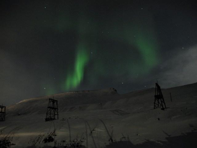 aurora polare e miniere, foto di Luca Spogli