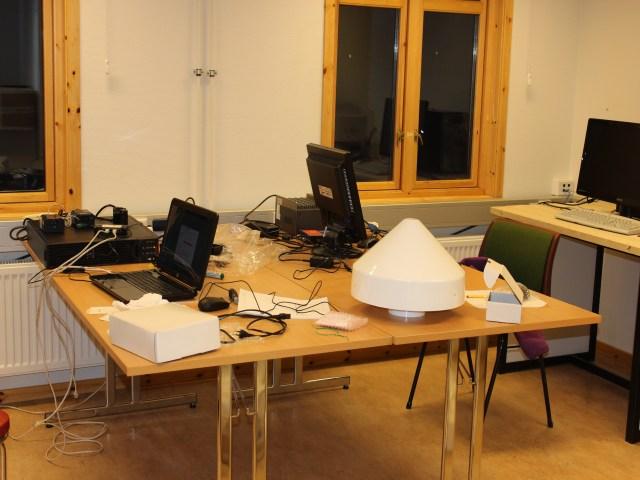 ufficio presso la base dirigibile italia, foto Ingrid hunstad