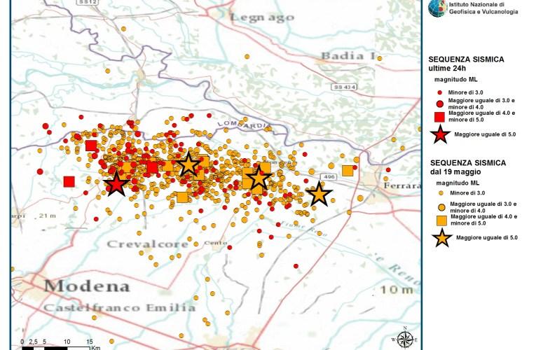 Terremoto Pianura Padana Emiliana: aggiornamento ore 10.00 del 29 maggio