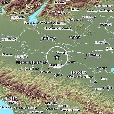 Terremoto in Pianura Padana Emiliana: evento M5.8, 29 maggio ore 09.00