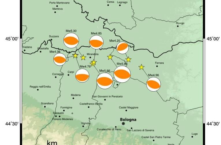 Terremoto in Pianura Padana Emiliana: meccanismi focali e magnitudo