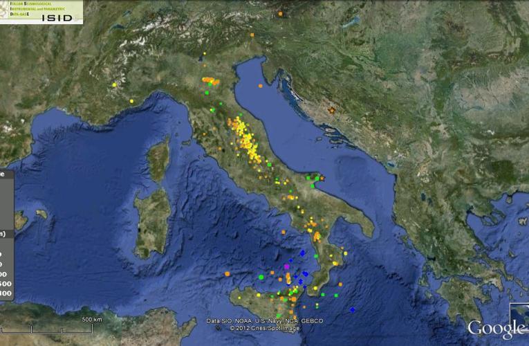 Italia sismica: i terremoti della prima metà di Agosto 2012