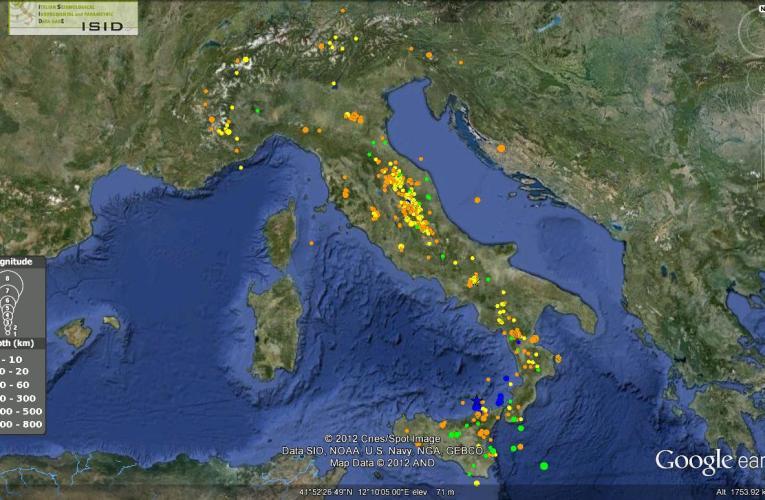 Italia sismica: i terremoti della seconda metà di settembre 2012