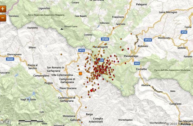 Aggiornamento sulla sequenza sismica in Garfagnana (provincia di Lucca): 31 gennaio ore 12.00