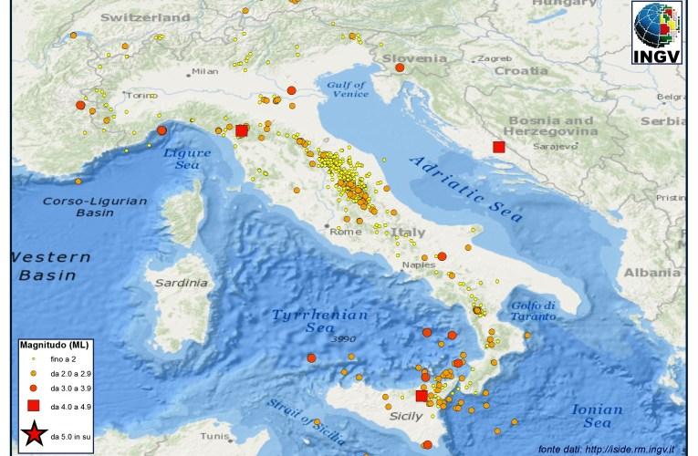 Italia sismica: i terremoti di Gennaio 2013