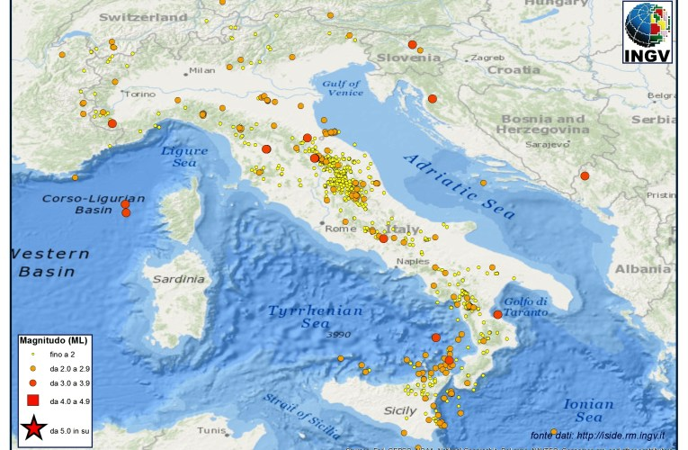 Italia sismica: i terremoti di Aprile 2013