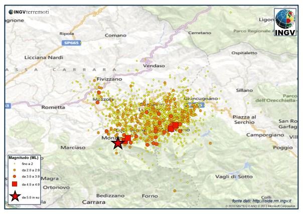 Sequenza sismica in Lunigiana dal 21 giugno al 14 luglio (aggiornamento ore 17:00 italiane). Sono oltre 1870 gli eventi registrati dalla Rete Sismica Nazionale.