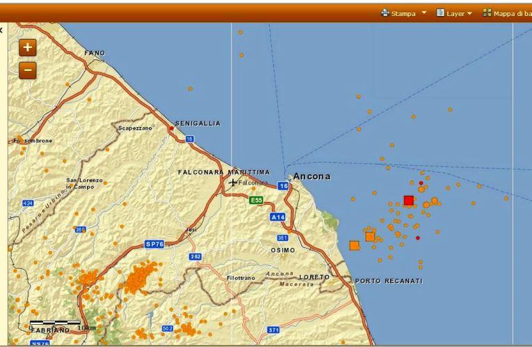 Aggiornamento sequenza sismica in Adriatico centro-settentrionale, 22 agosto ore 08:44  ML 4.4
