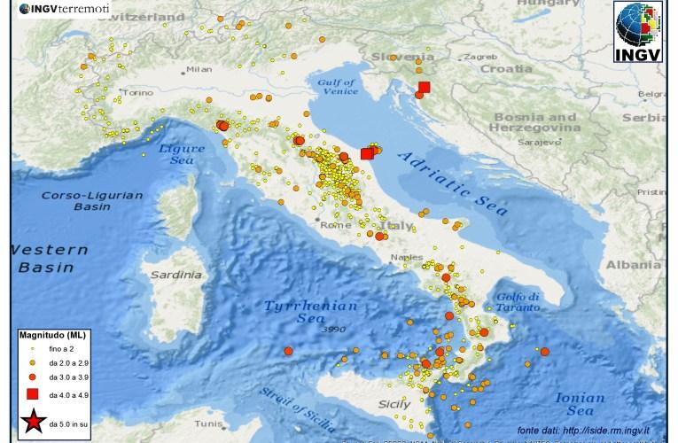 Italia sismica: i terremoti di luglio 2013
