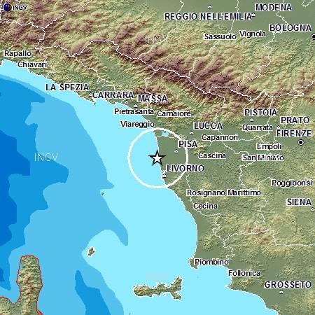 Terremoto in Toscana (Pisa) M 3.4 (19 ottobre 14:29)