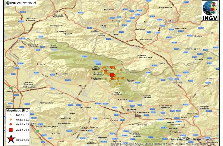 Aggiornamento sequenza tra le province di Caserta e Benevento, 29 dicembre ore 22.00
