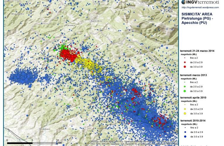 Sequenza sismica in Umbria (Gubbio – Città di Castello)