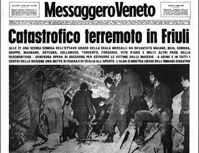 I terremoti del '900: il terremoto del Friuli del 6 maggio 1976