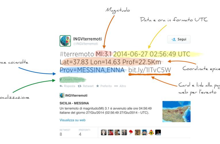 Su @INGVterremoti tutte le informazioni dei terremoti in tempo reale