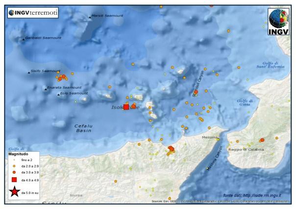 La sismicità nel Basso Tirreno, Calabria meridionale e provincia di Messina