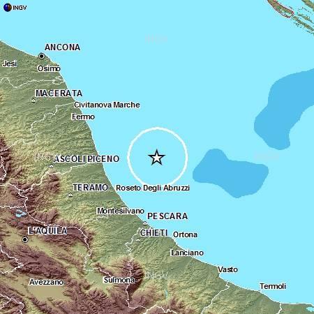 Evento sismico in provincia di Teramo, Ml 4.2, 29 maggio ore 15.07