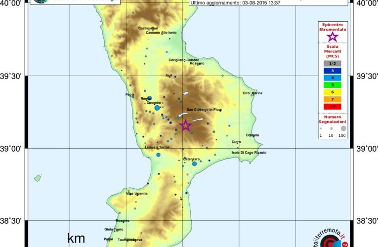Evento sismico tra le province di Cosenza, Catanzaro e Crotone:  aggiornamento e approfondimento