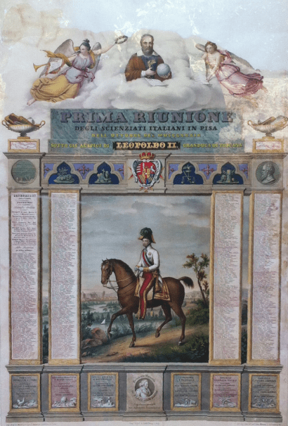Prima riunione scienziati italiani 1839