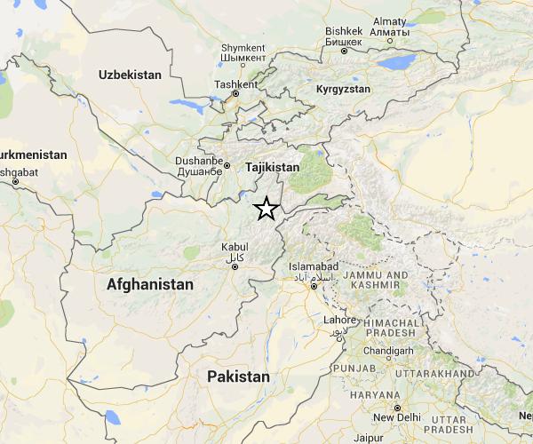 Terremoto M7.5 in Hindu-Kush, Afghanistan, 26 ottobre 2015