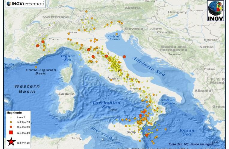 Italia sismica: i terremoti di settembre 2015