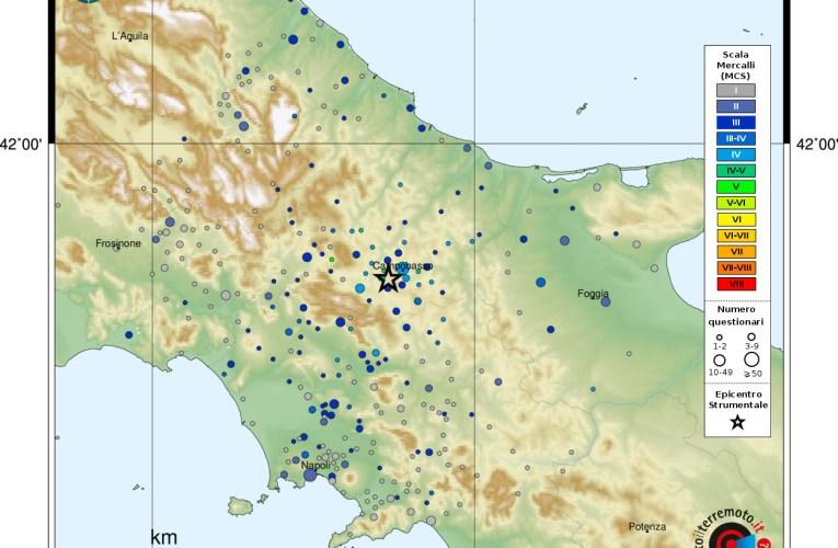 Evento sismico in provincia di Campobasso, M 4.1, 16 gennaio ore 19:55